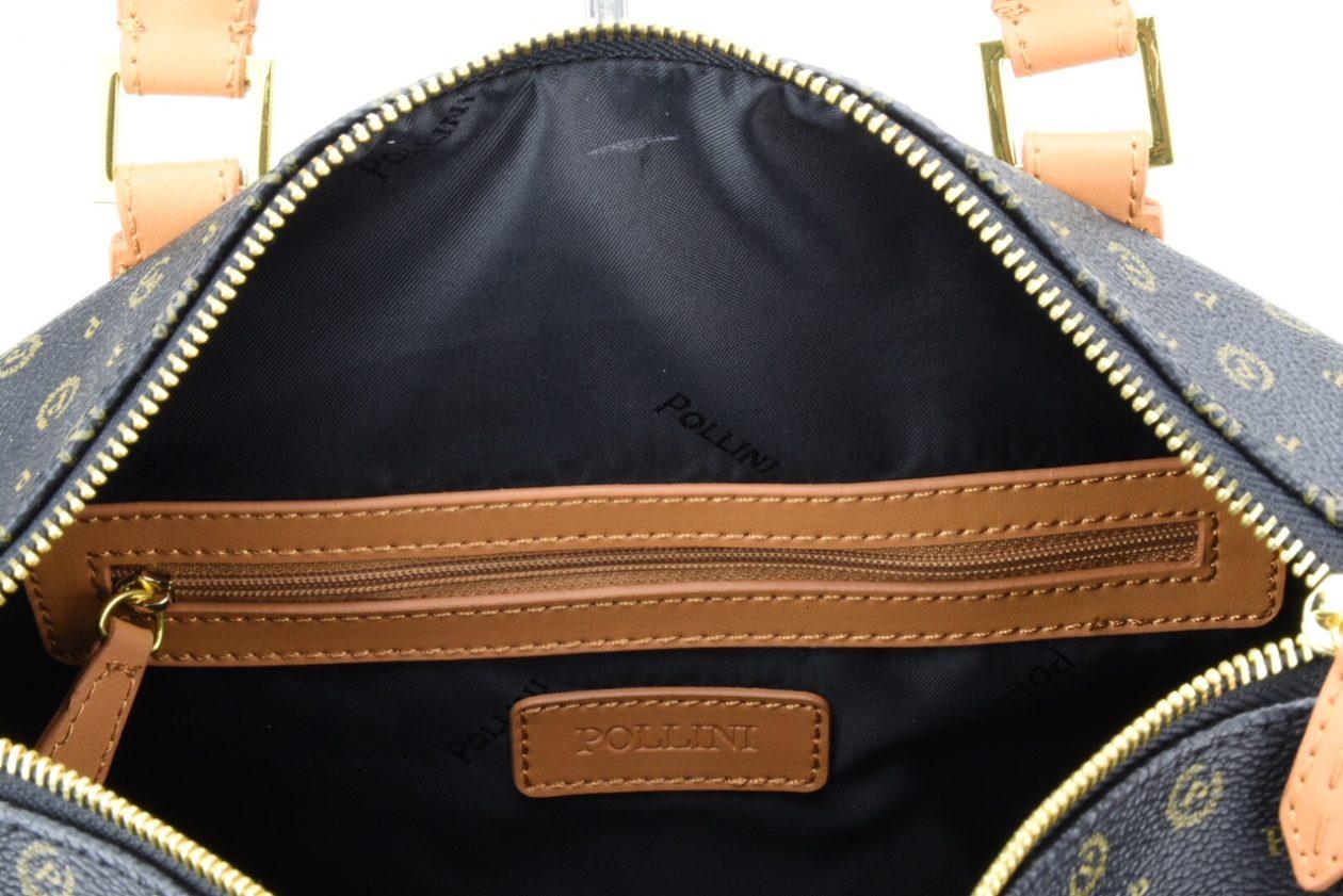 Bags Borsa Bauletto Marrone Pollini Tapiro Cuoio Nero 4r0w4q6 Tracolla srtQChd