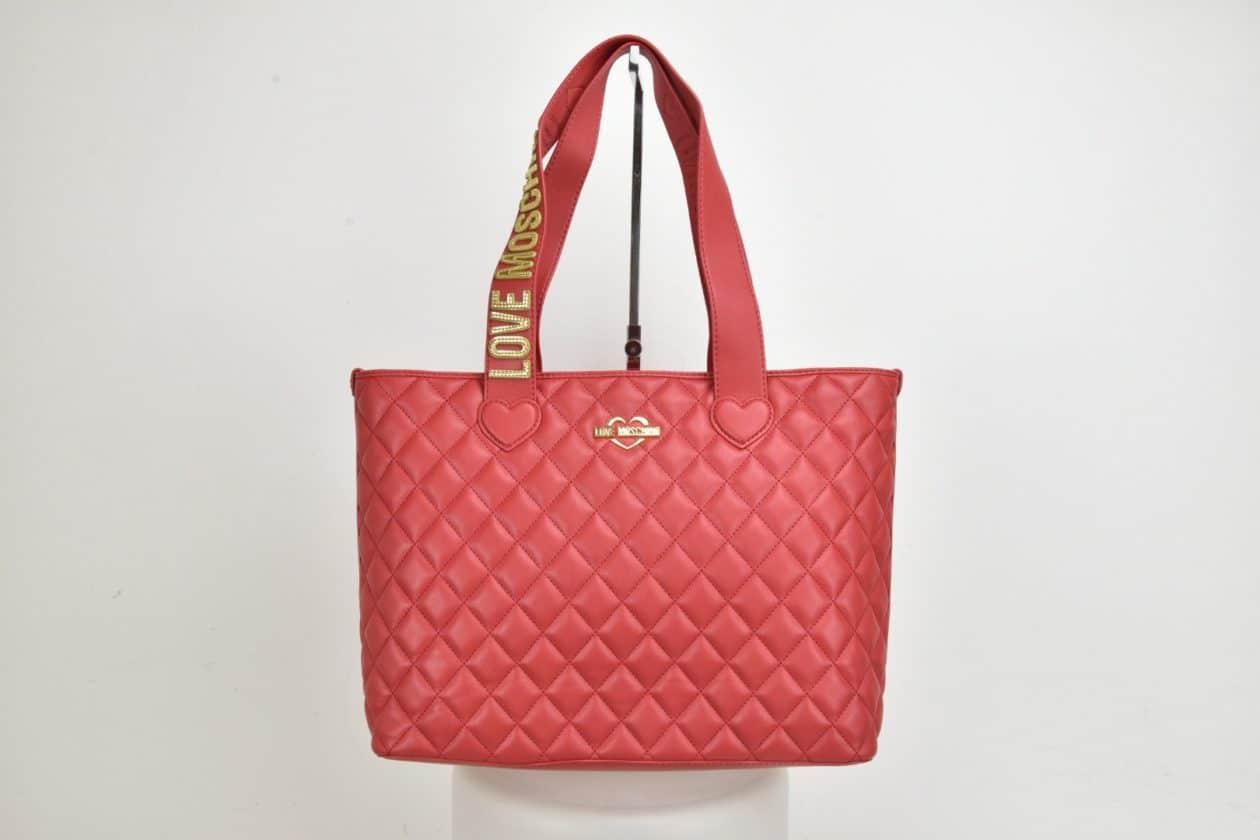 LOVE MOSCHINO | Shopper trapuntata rossa
