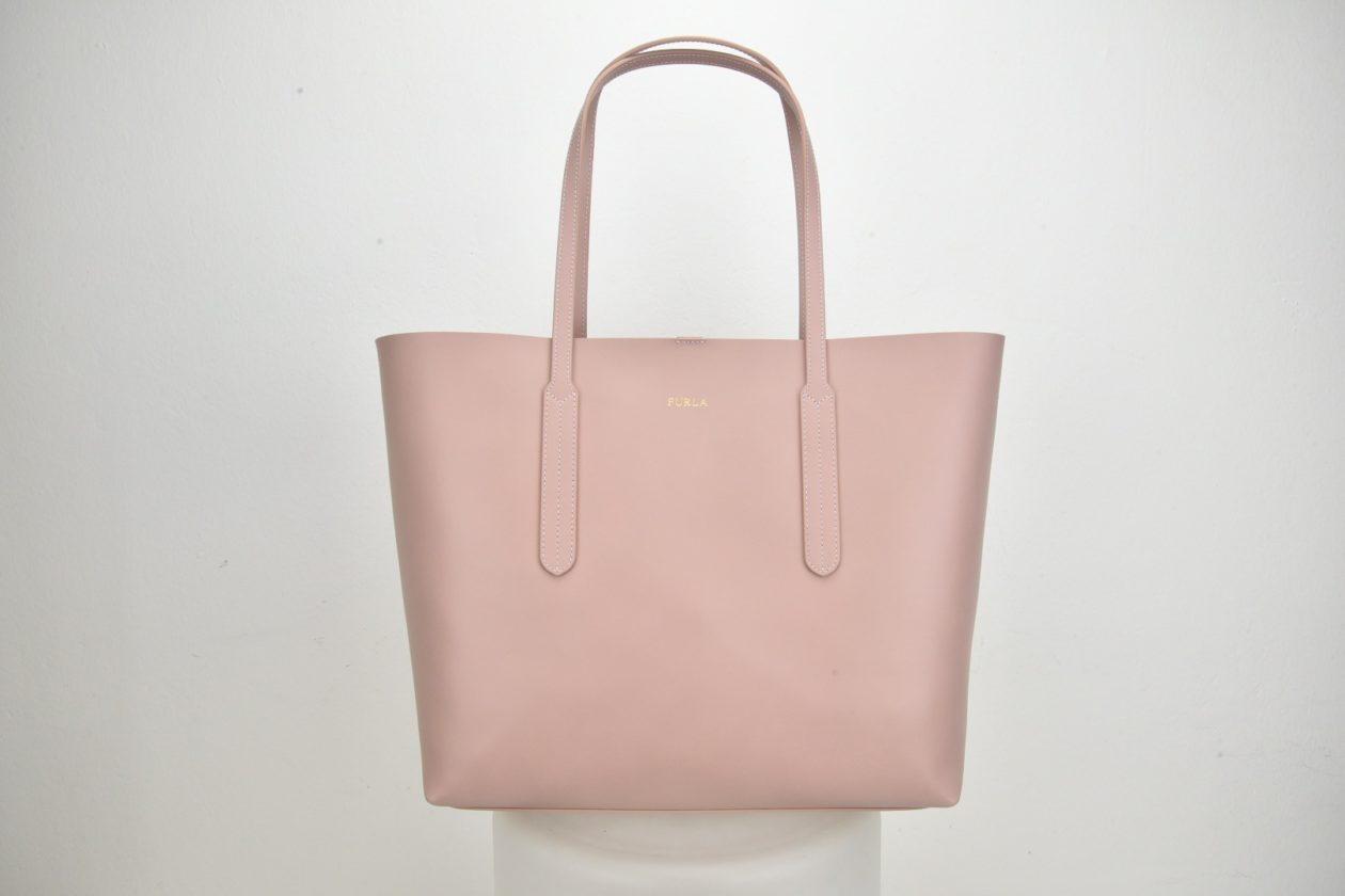 FURLA | Shopper rosa cipria pelle