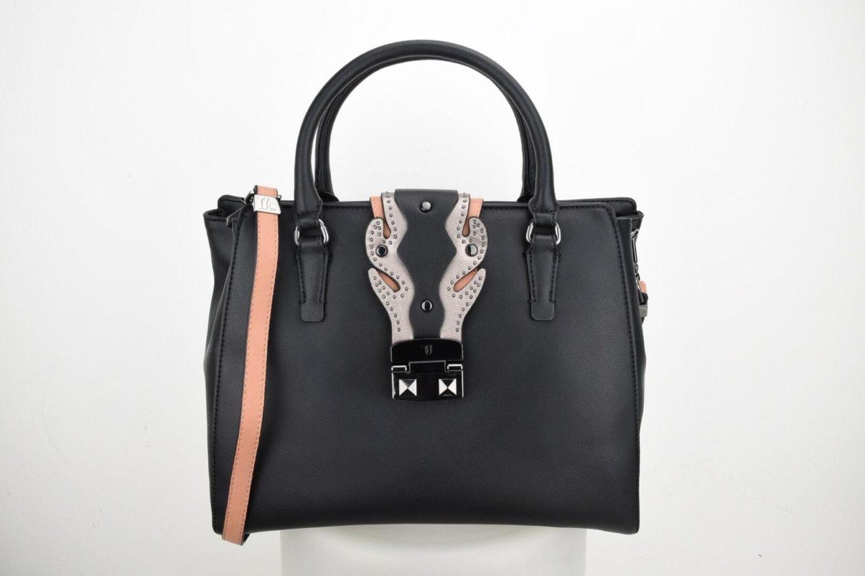 TRUSSARDI | Bauletto nero con borchiette