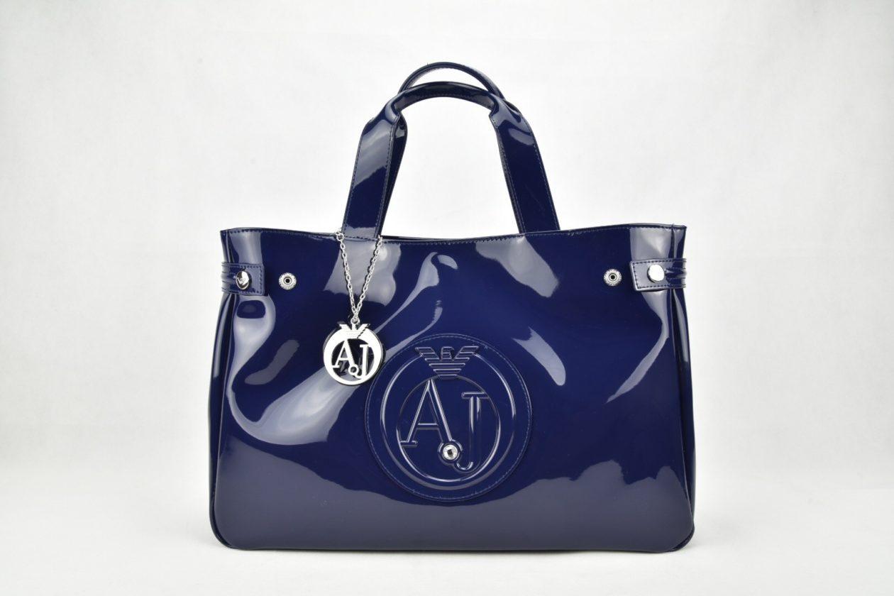 Shopper vernice blu Armani Jeans