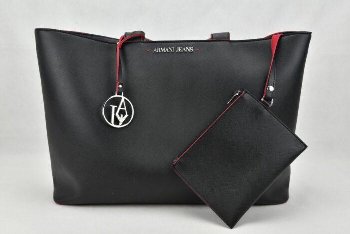 Shopper nera Armani Jeans Borse