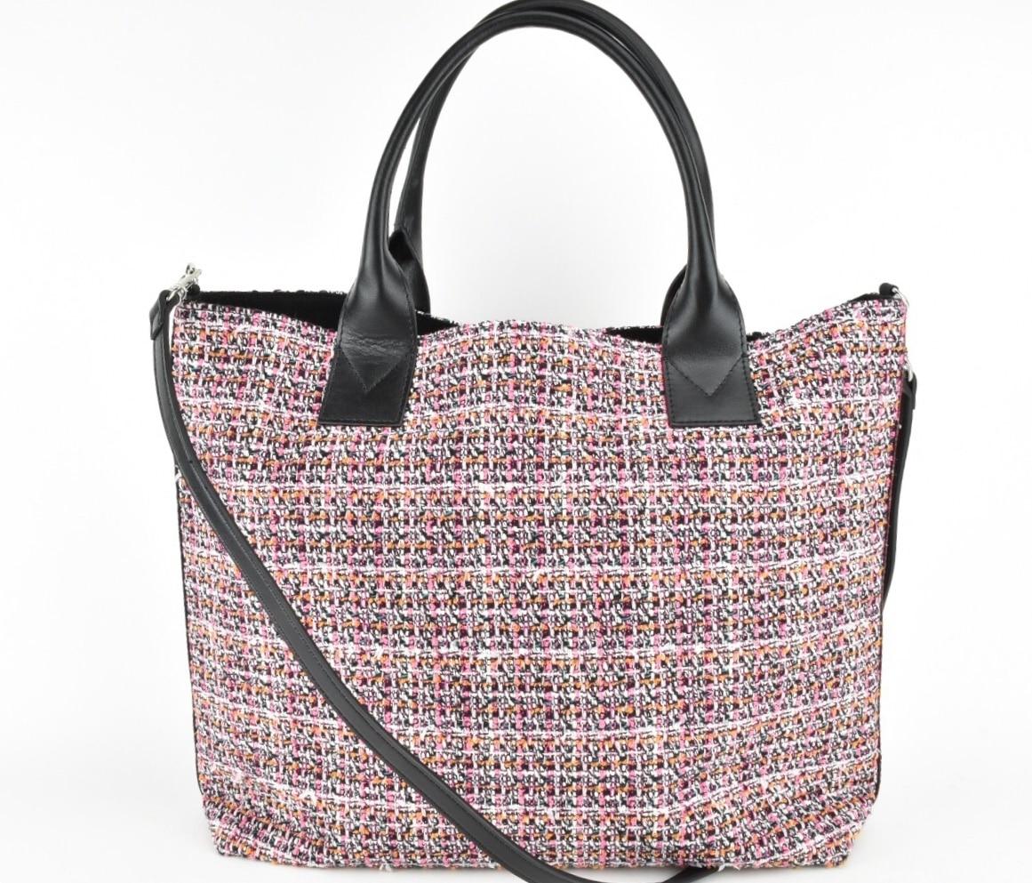 Shopper tweed rosa Pinko