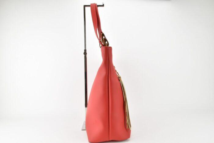 Shopper rossa con dettagli geo Alviero Martini Borse
