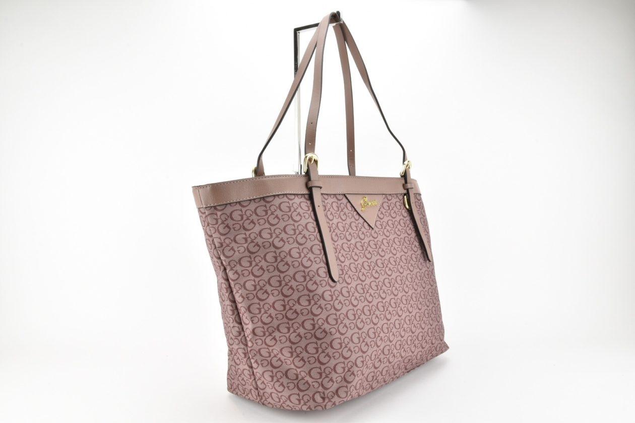 borsa guess morbida spalla rosa antico shopping