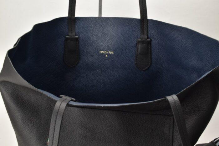Shopper reversibile 3 in 1 nero-blu  Patrizia Pepe Borse