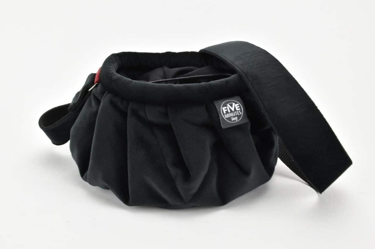 FIVE MINUTES BAG Borsa a secchiello 3 in 1 in velluto nero