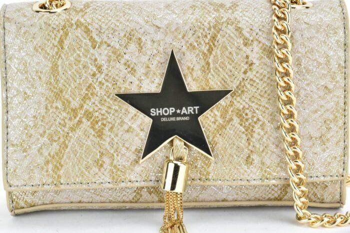 Tracolla pitonata champagne Shop Art Borse