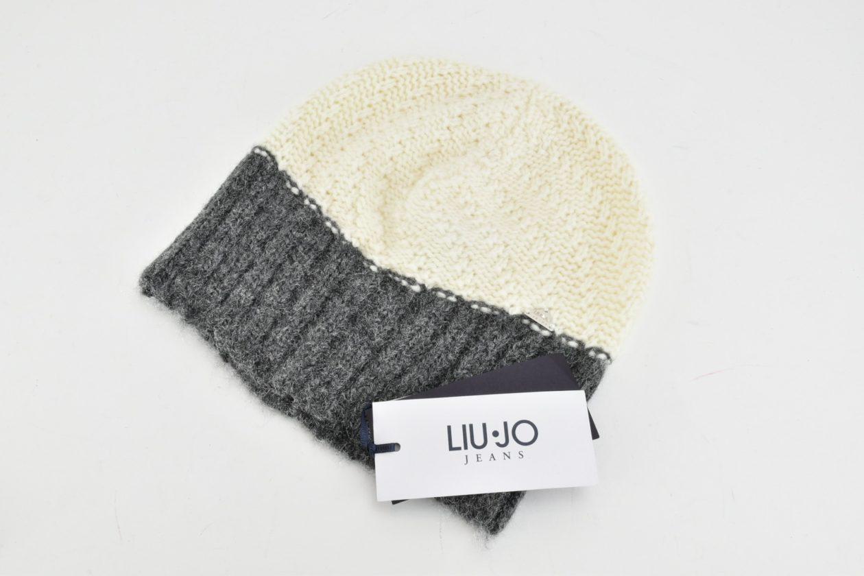 Berretto panna e grigio Liu Jo