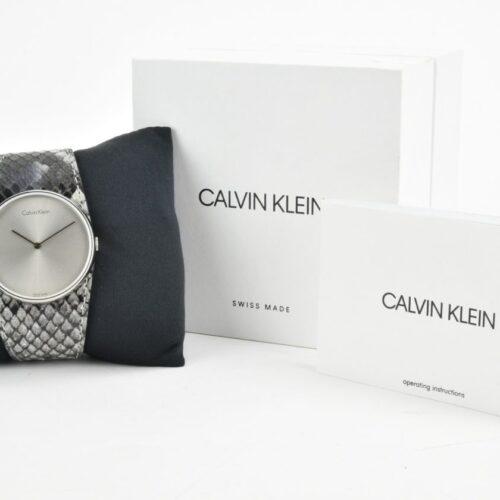 CALVIN KLEIN Orologio cinturino pitonato grigio blu Accessori