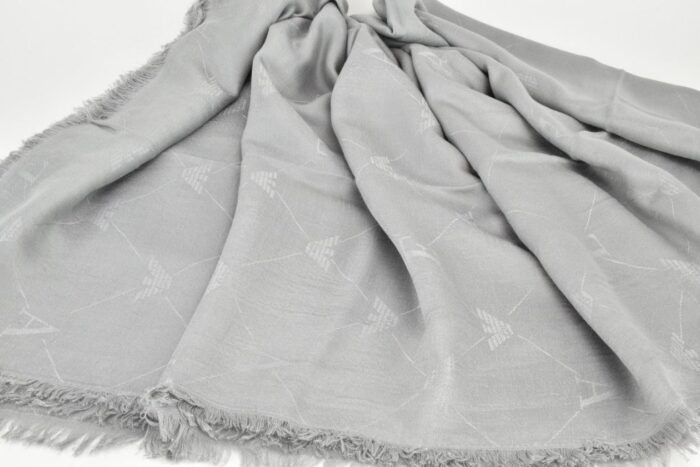 EMPORIO ARMANI Sciarpa unisex grigio perla Accessori