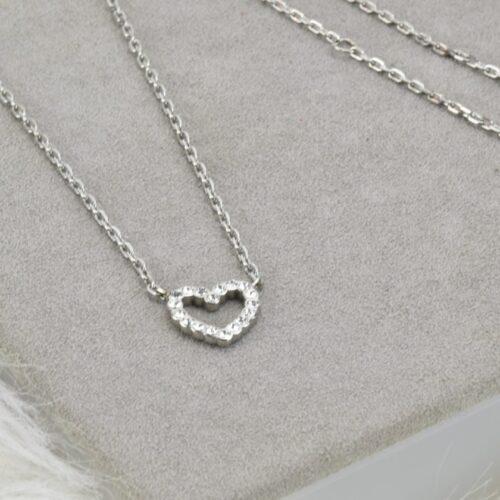 FOSSIL Collana cuore con strass Accessori