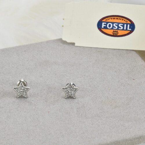 FOSSIL Orecchini stella con strass Accessori