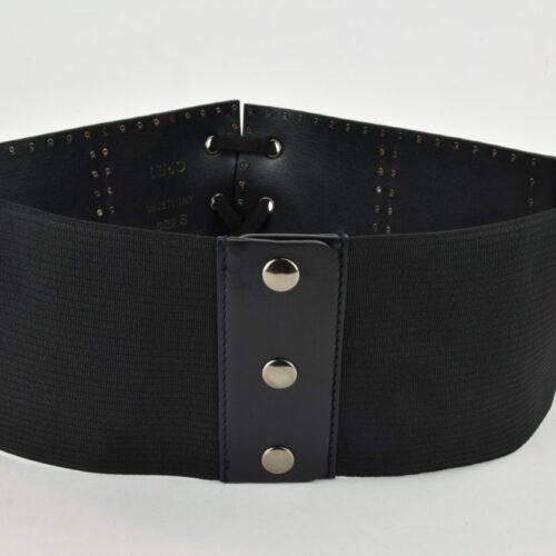 LIU JO Cintura elastica nera con lacci Accessori