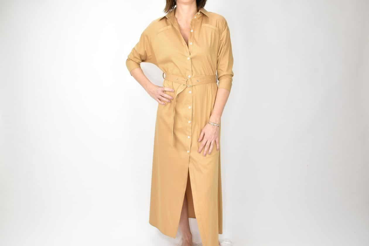 PATRIZIA PEPE vestito color cammello