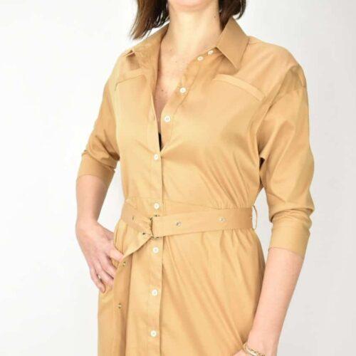 PATRIZIA PEPE vestito color cammello Abbigliamento