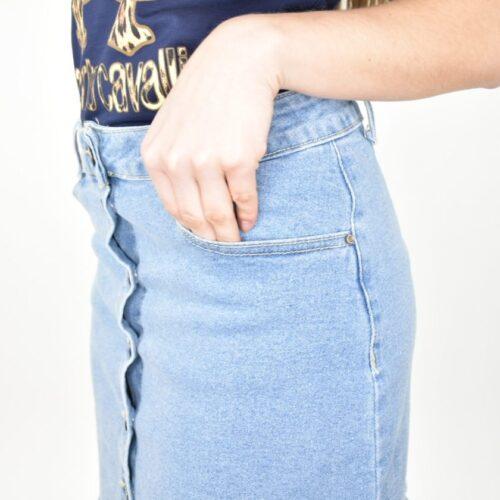 MINIGONNA di jeans chiara con bottoni Abbigliamento