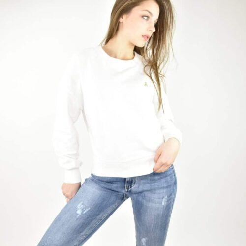 PATRIZIA PEPE felpa bianca Abbigliamento
