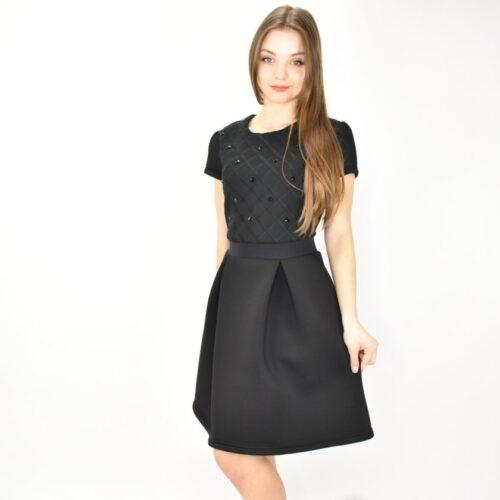 PATRIZIA PEPE vestito nero con applicazioni Abbigliamento