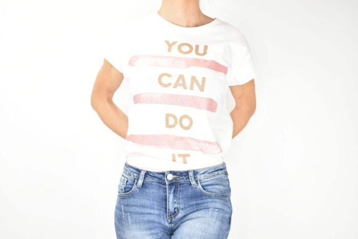 T-SHIRT bianca you can do it Abbigliamento