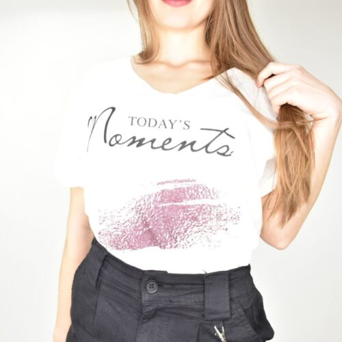 T-SHIRT bianca today's moments Abbigliamento