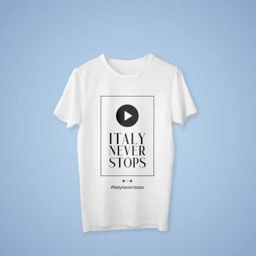 ITALY NEVER STOPS – T-SHIRT UOMO Abbigliamento