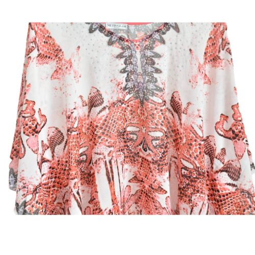 METIS GLAM Kaftano rosso Abbigliamento