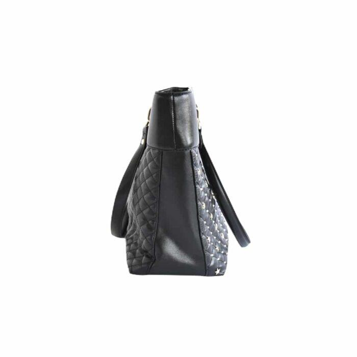 LIU JO Shopper nera con borchiette stellina Borse