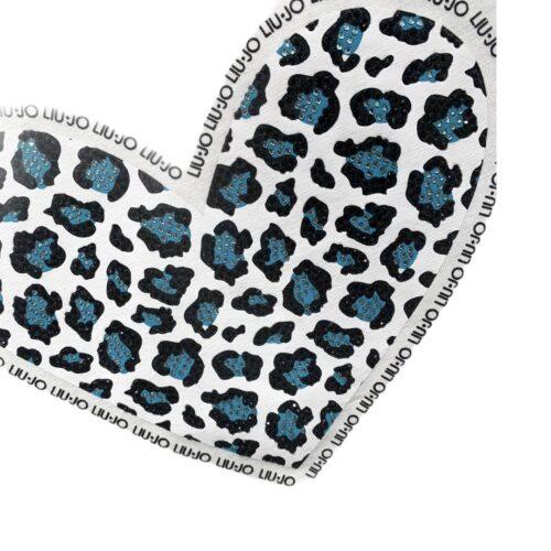 LIU JO T-shirt bianca cuore blu Abbigliamento