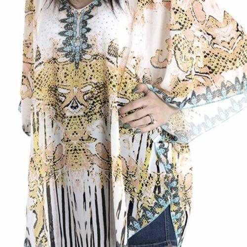 METIS GLAM Kaftano dettagli oro Abbigliamento