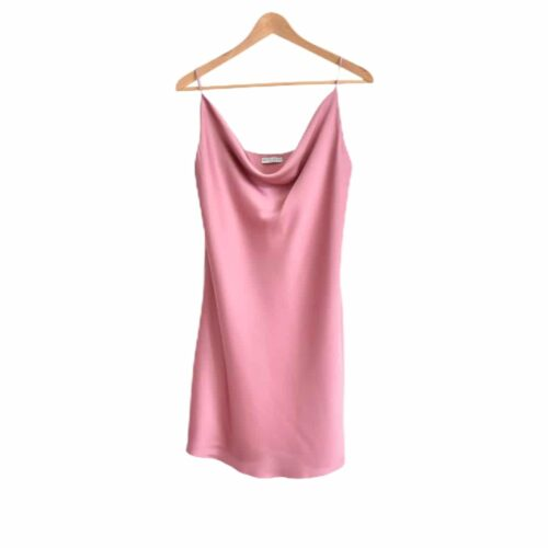 METIS GLAM Vestitino rosa effetto raso Abbigliamento