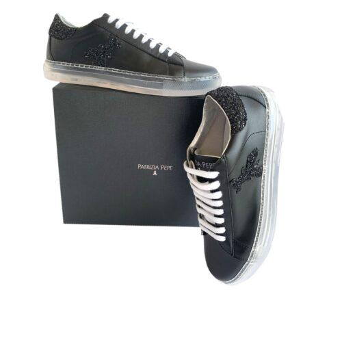 PATRIZIA PEPE Scarpe sneakers nere Donna