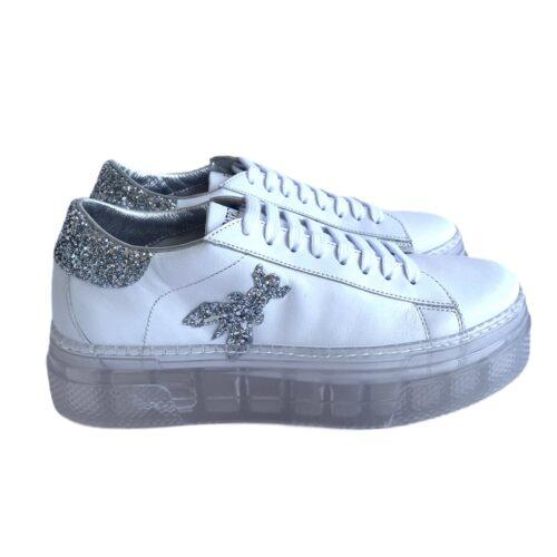 PATRIZIA PEPE Scarpe sneakers bianche para 3 cm Donna