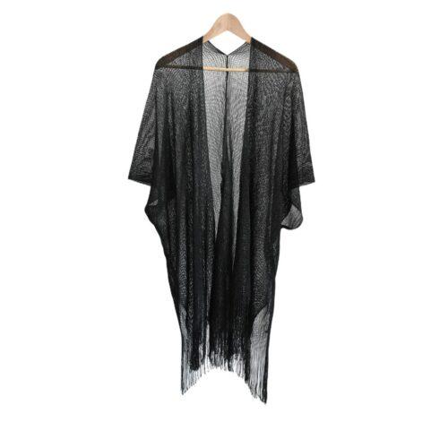 METIS GLAM  Kaftano Coprispalle nero Abbigliamento