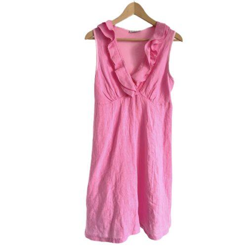 METIS GLAM Vestito lino rosa Abbigliamento