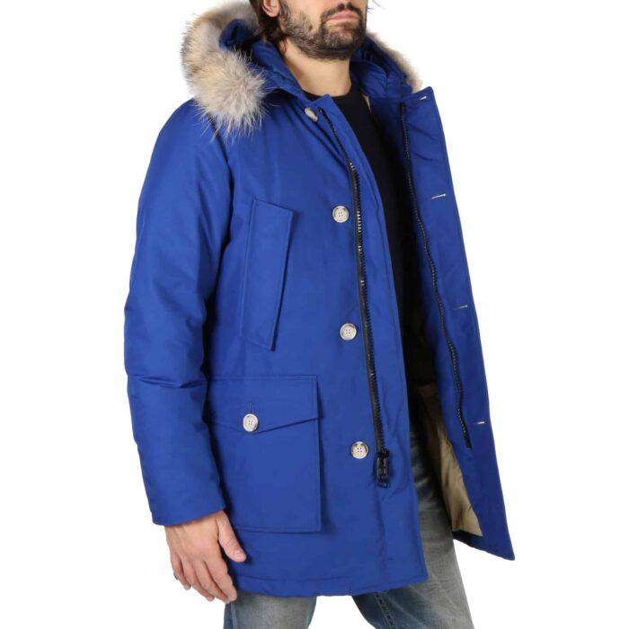 WOOLRICH Parka blu impermeabile con pelliccia rimovibile Giacche