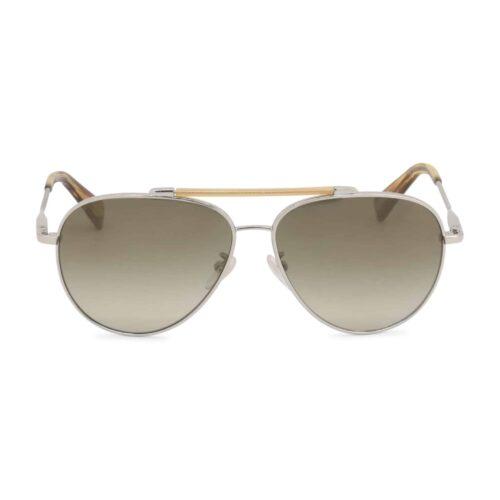 LANVIN occhiali da sole lente fumé UV2 marrone stile aviator Estate