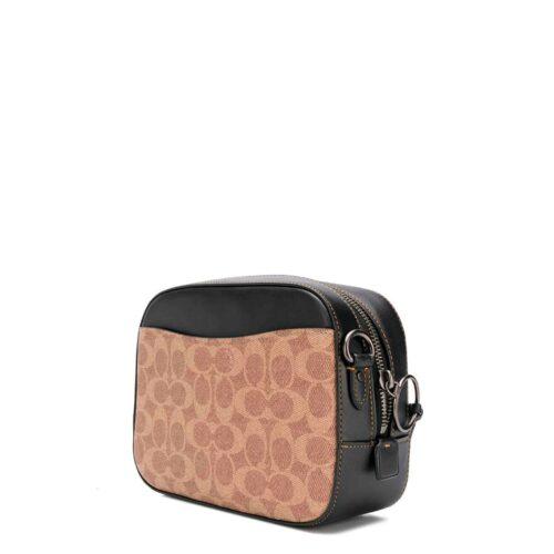 COACH borsa tracolla nera signature con inserti Borse a tracolla