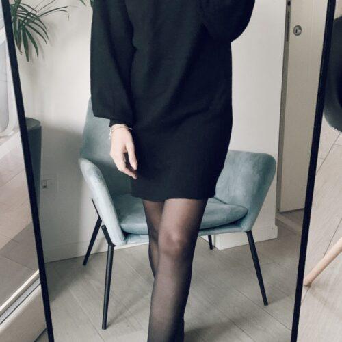 VESTITO nero morbido comfy Abbigliamento