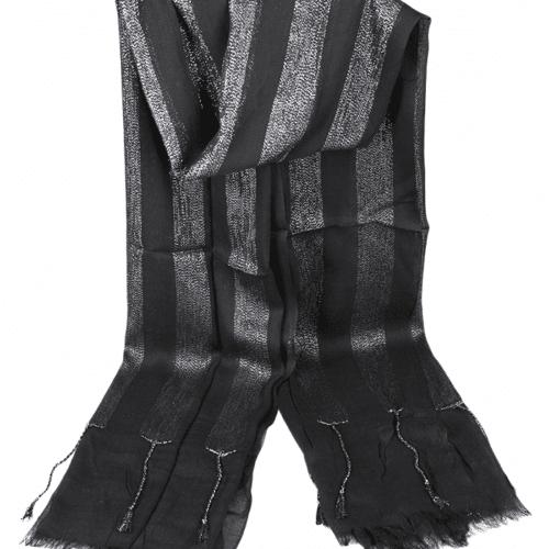 Foulard stola nera con lurex brillantinato Accessori