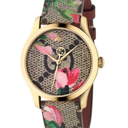 GUCCI Orologio monogram petali rosa con dettagli oro Accessori