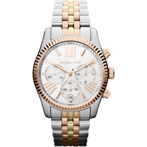 MICHAEL KORS Orologio Cronografo acciaio, oro e oro rosa Accessori