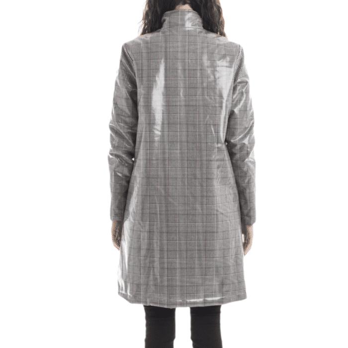PINKO Cappotto imbottito effetto spalmato impermeabile Abbigliamento