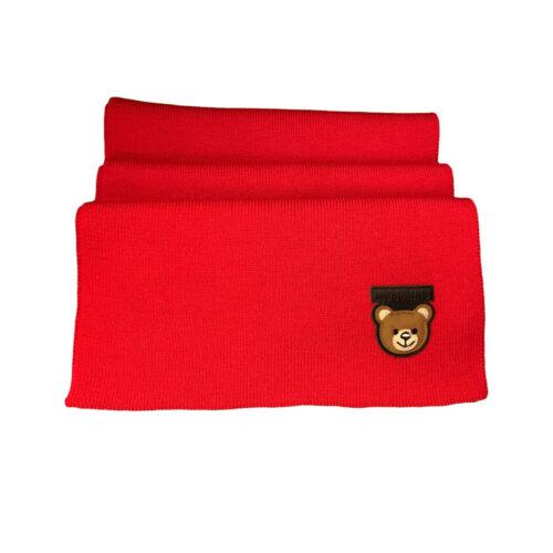 MOSCHINO Sciarpa rossa in lana Accessori