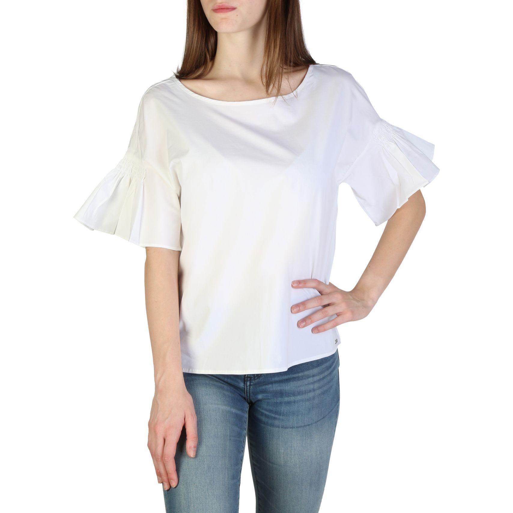 ARMANI EXCHANGE Maglia bianca con maniche volant Abbigliamento