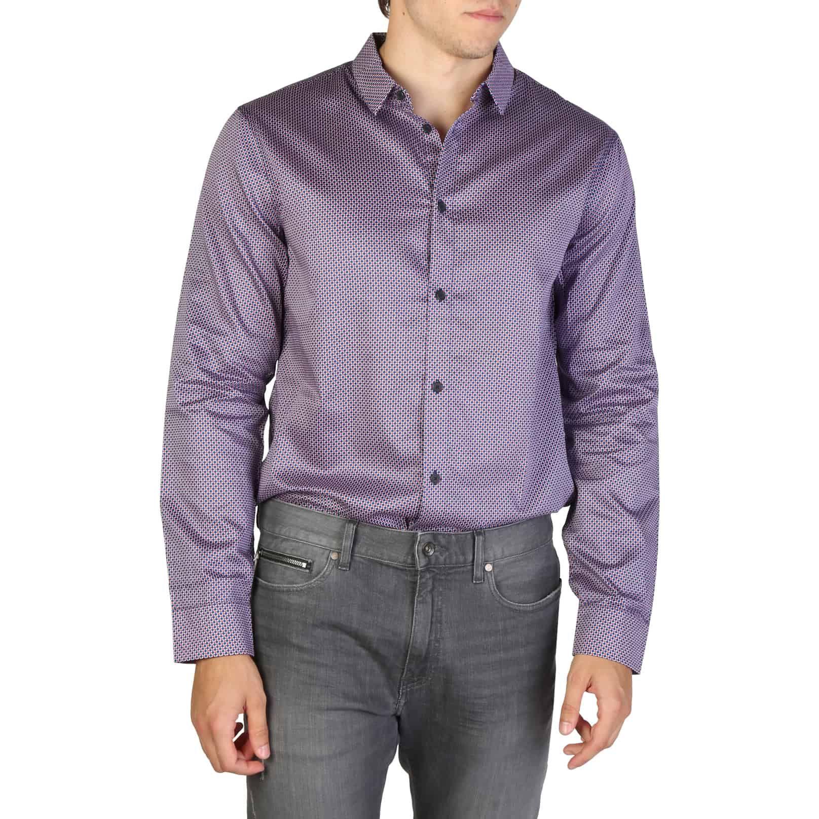 ARMANI EXCHANGE Camicia multicolor viola Abbigliamento