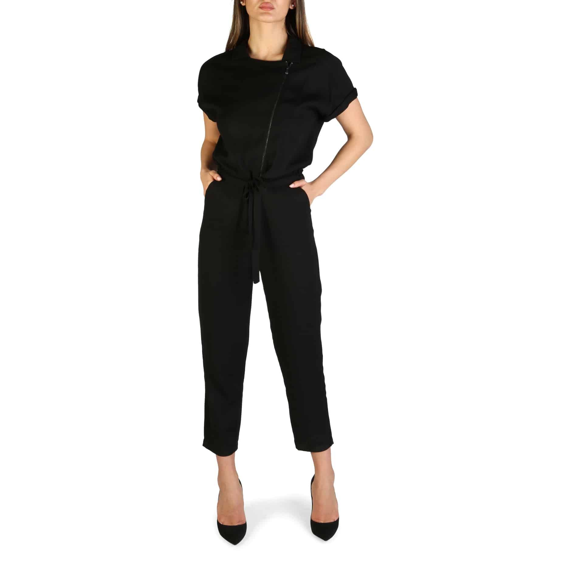 ARMANI EXCHANGE Tuta nera in tinta unita Abbigliamento