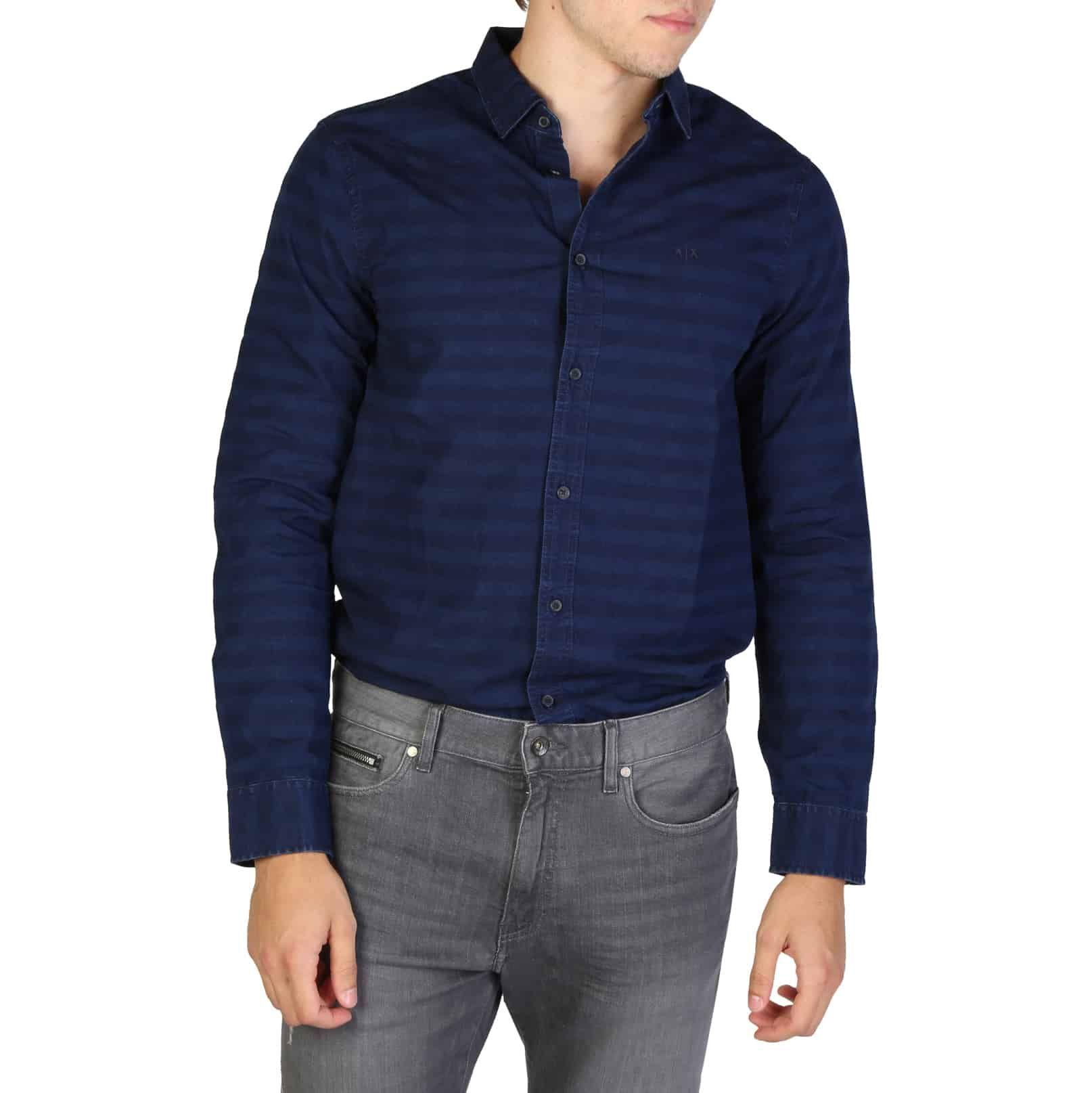 ARMANI EXCHANGE Camicia blu scuro Abbigliamento