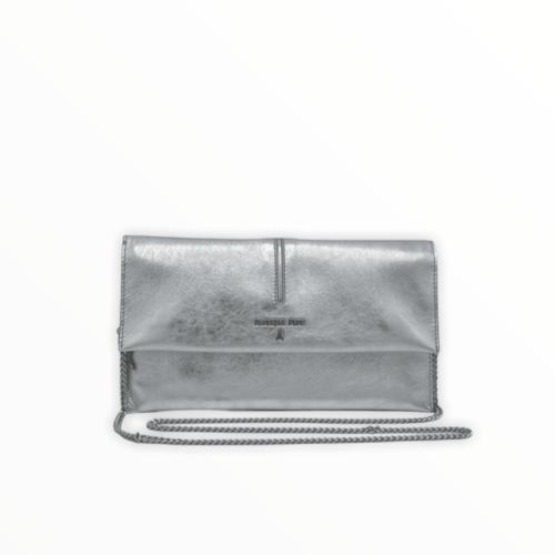PATRIZIA PEPE Pochette con tracolla color argento Borse