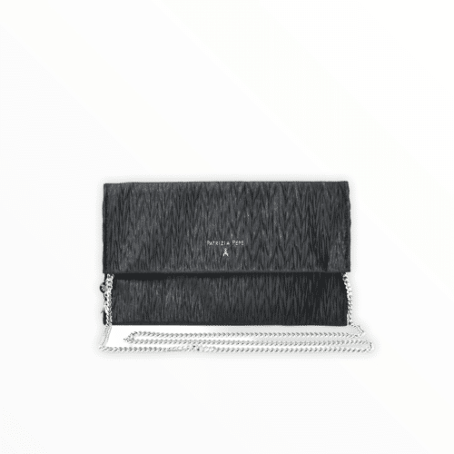 PATRIZIA PEPE Pochette con tracolla colore nero Borse